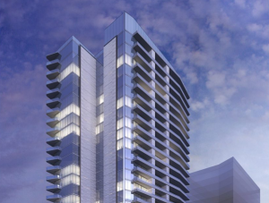 Exterior of Windrose Tower at Legacy West, Plano