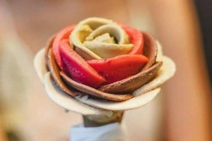 Rose-shaped gelato from Amorino Gelato, opening in Legacy West, Plano December 2018