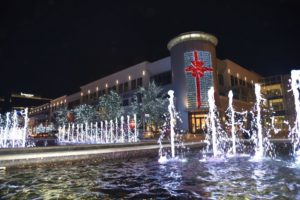 Legacy West, Plano decorated for Christmas