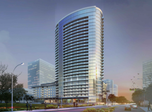 Render of Windrose Tower at Plano Legacy West